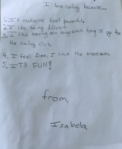 The letter written by Isabela