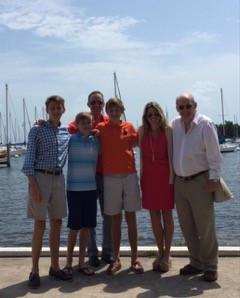 The Dorsey Family: Michael 17, Liam 13, Colin 15, Sean, Nicole, & Sean's dad, Mike Dorsey, enjoying Easter Sunday brunch at the club